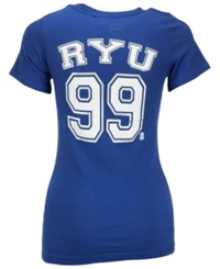 5Th And Ocean Women's Hyun Jin Ryu Los Angeles Dodgers Foil Player T Shirt Royalblue