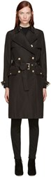 Versace Black Classic Trench Coat