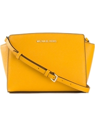 Michael Michael Kors 'Selma' Messenger Crossbody Bag Yellow And Orange