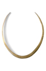 Soko Hammered Plate Collar Necklace Brass