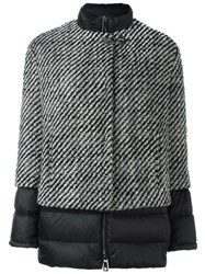 Fay Panelled Jacket Black