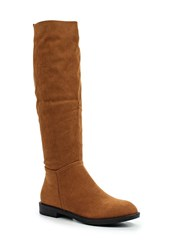Lost Ink George Soft Knee High Boots Tan