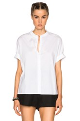 James Perse Rolled Sleeve Top In White