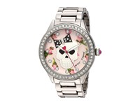 Betsey Johnson Bj00517 49 Floral Skull Silver Watches