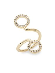 Bcbgeneration Pave Spiral Ring Gold