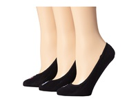 Lauren Ralph Lauren Ultra Low Cotton Liner 3 Pack Black Women's No Show Socks Shoes