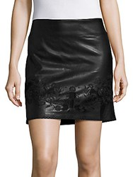 Romeo And Juliet Couture Embroidered Solid Skirt Black