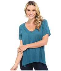 The Beginning Of Rhon Handkerchief Tee Teal Women's T Shirt Blue