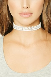 Forever 21 Floral Crochet Lace Choker