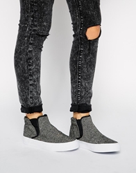 Asos Drop Dead Plimsoll Booties Grey