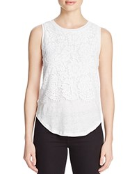 Generation Love Nori Eyelash Lace Double Layer Tank White