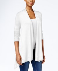 Jm Collection Petite Button Back Open Front Cardigan Only At Macy's Bright White