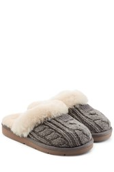 Ugg Australia Cozy Knit Slippers With Wool And Sheepskin Grey