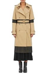 Maison Martin Margiela Women's Twill And Flannel Deconstructed Trench Coat Tan