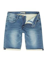 Blend Of America Denim Shorts Blue