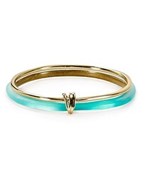 Alexis Bittar Lucite Liquid Metal Stacked Bangles Set Of 2 Mint Green