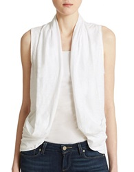 Dkny White Cotton Mesh Vest