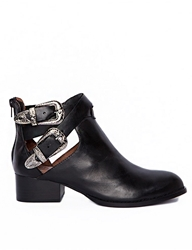 Pixie Market Jeffrey Campbell Western Buckle Cut Out Boots