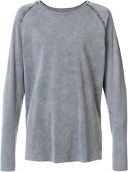 Osklen Reversible Raglan T Shirt Grey