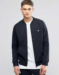 French Connection Zip Through Baseball Sweat Navy