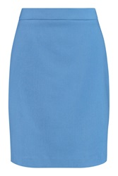 Love Moschino Woven Jersey Mini Skirt Blue