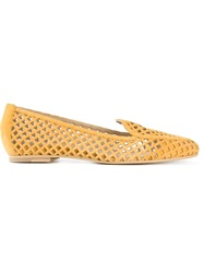 Aperlai Aperlai 'Gatsby' Cut Out Slippers Yellow And Orange