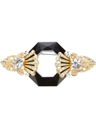 Gianfranco Ferre Vintage Faceted Gem Brooch Metallic