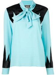 Fausto Puglisi Contrasting Inserts Shirt Blue