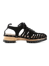 Marques Almeida Cut Out Lace Up Shoes
