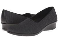 Ecco Felicia Stretch Black White Black Women's Wedge Shoes
