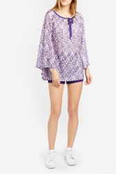 Missoni Women S Bell Sleeve Tunic Boutique1 Purple