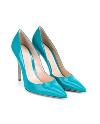 Gianvito Rossi Patent Point Toe Pumps Turquoise