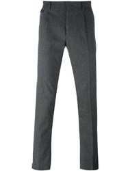 Paolo Pecora Slim Fit Tailored Trousers Grey