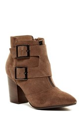 Restricted Jet Set Pointy Toe Bootie Brown