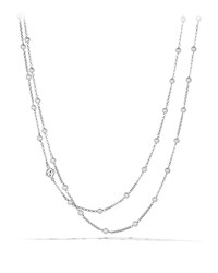 David Yurman Chain Necklace With Pearls Silver