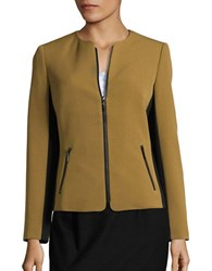 Nipon Boutique Colorblocked Crepe Jacket Bronze Black