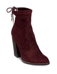 Dolce Vita Casee Drawstring Suede Ankle Boots Oxblood