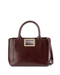 Ines East West Small Tote Bag Bordeaux Roger Vivier