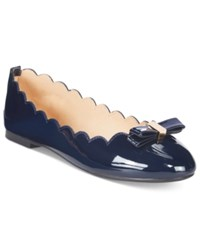 Wanted Olivia Scalloped Ballet Flats Women's Shoes Navy