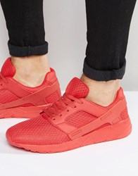 Asos Trainers In Red Mesh With Rubber Panels Red