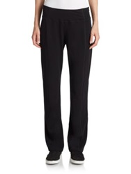 Eileen Fisher Stretch Cotton Yoga Pants Black