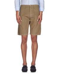 Gold Case By Rocco Fraioli Trousers Bermuda Shorts Men Khaki