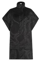 Emilio Pucci Evening Coat With Alpaca And Virgin Wool Black