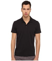 Theory Boyd.Census Polo Black Men's Short Sleeve Pullover