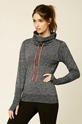 Forever 21 Active Marled Drawstring Hoodie