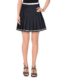 Dandg Skirts Mini Skirts Women Dark Blue