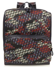 Pierre Hardy Camocube Print Backpack Black Multi