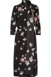Marc Jacobs Pussy Bow Fil Coupe Midi Dress Black