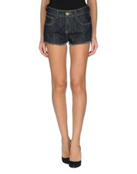 Lez A Lez Denim Shorts Blue