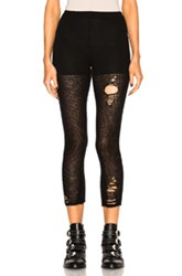 R 13 R13 Ripped Cashmere Leggings In Black